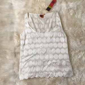 Tory Burch off white tank top